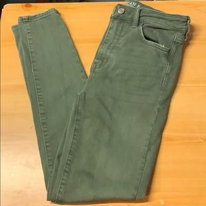 AEO Super Stretch Super Hi-Rise Jeggings LIKE NEW